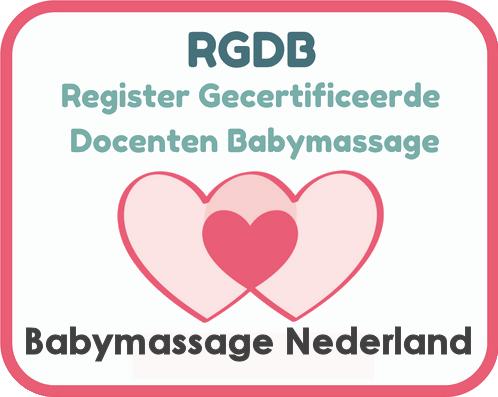 Gediplomeerd en geregistreerd bij Babymassage Nederland